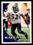 2010 Topps #160  Ray Lewis  Front Thumbnail