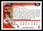 2010 Topps #248  Dexter McCluster  Back Thumbnail