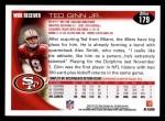 2010 Topps #179  Ted Ginn  Back Thumbnail