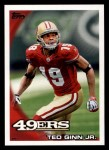2010 Topps #179  Ted Ginn  Front Thumbnail