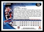 2010 Topps #154  Roscoe Parrish  Back Thumbnail