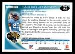 2010 Topps #158  Rashad Jennings  Back Thumbnail