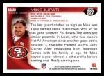 2010 Topps #227  Mike Iupati  Back Thumbnail