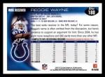 2010 Topps #180  Reggie Wayne  Back Thumbnail