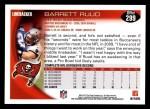 2010 Topps #299  Barrett Ruud  Back Thumbnail