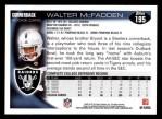 2010 Topps #195  Walter McFadden  Back Thumbnail