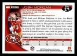 2010 Topps #274  Josh Morgan  Back Thumbnail