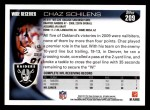 2010 Topps #209  Chaz Schilens  Back Thumbnail