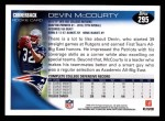 2010 Topps #295  Devin McCourty  Back Thumbnail