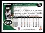 2010 Topps #170  LaDainian Tomlinson  Back Thumbnail