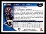 2010 Topps #264  Mardy Gilyard  Back Thumbnail