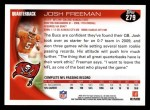 2010 Topps #279  Josh Freeman  Back Thumbnail