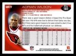 2010 Topps #181  Adrian Wilson  Back Thumbnail