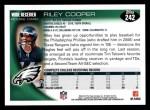 2010 Topps #242  Riley Cooper  Back Thumbnail