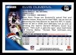 2010 Topps #166  Elvis Dumervil  Back Thumbnail