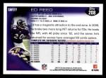 2010 Topps #208  Ed Reed  Back Thumbnail