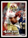 2010 Topps #222  Michael Crabtree  Front Thumbnail