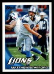 2010 Topps #183  Matthew Stafford  Front Thumbnail
