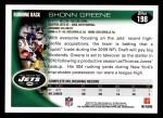 2010 Topps #198  Shonn Greene  Back Thumbnail