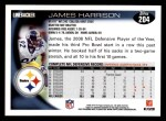 2010 Topps #204  James Harrison  Back Thumbnail