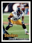 2010 Topps #204  James Harrison  Front Thumbnail