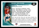 2010 Topps #247   -  Ronnie Brown Dolphins Team Back Thumbnail