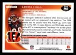 2010 Topps #291  Leon Hall  Back Thumbnail