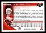 2010 Topps #235  John Skelton  Back Thumbnail