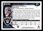 2010 Topps #271  Jacoby Ford  Back Thumbnail