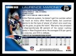 2010 Topps #219  Laurence Maroney  Back Thumbnail