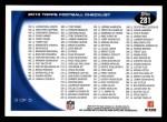 2010 Topps #281   -  Brett Favre Classic Matchups Back Thumbnail
