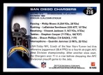 2010 Topps #216   -  Philip Rivers / Antonio Gates / Vincent Jackson Chargers Team Back Thumbnail