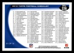 2010 Topps #226   -  Eli Manning / Tony Romo Classic Matchups Back Thumbnail