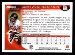 2010 Topps #156  Sean Weatherspoon  Back Thumbnail
