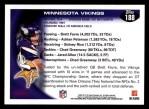 2010 Topps #188   -  Brett Favre / Adrian Peterson Vikings Team Back Thumbnail
