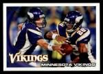 2010 Topps #188   -  Brett Favre / Adrian Peterson Vikings Team Front Thumbnail
