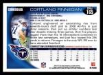 2010 Topps #165  Cortland Finnegan  Back Thumbnail