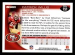 2010 Topps #151  Patrick Willis  Back Thumbnail