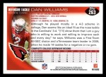 2010 Topps #263  Dan Williams  Back Thumbnail