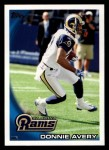 2010 Topps #164  Donnie Avery  Front Thumbnail
