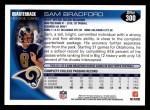 2010 Topps #300  Sam Bradford  Back Thumbnail