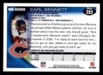 2010 Topps #293  Earl Bennett  Back Thumbnail