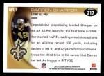 2010 Topps #217  Darren Sharper  Back Thumbnail