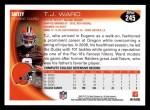 2010 Topps #245  T.J. Ward  Back Thumbnail