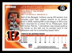 2010 Topps #182  Johnathan Joseph  Back Thumbnail