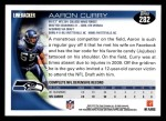 2010 Topps #282  Aaron Curry  Back Thumbnail