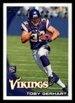2010 Topps #203  Toby Gerhart  Front Thumbnail