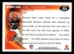 2010 Topps #324  Joe Thomas  Back Thumbnail