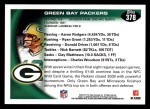 2010 Topps #378   -  Aaron Rodgers / Greg Jennings Packers Team Back Thumbnail