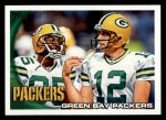 2010 Topps #378   -  Aaron Rodgers / Greg Jennings Packers Team Front Thumbnail